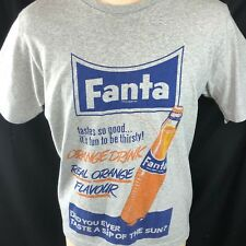 Fanta Orange Uniqlo x Coca Cola Retro T-Shirt XL Mens 2014 Coke Soda Licensed
