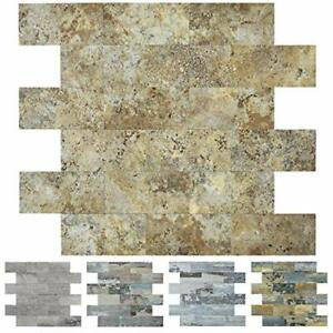 Art3d 10-Sheet Faux Stone Backsplash Tile Peel and Stick for  Assorted Colors