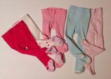 Baby Girls 3-6 6-9 Months 5 Piece Pink & Blue Tights Bundle