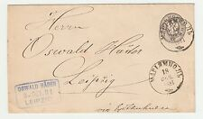 1881 Russia Germany Marjampole Leipzig Stationery Envelope Cover Letter