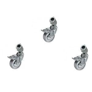 Manfrotto 110 3 Rollen Set Diam 75 mit Bremse wheel set with brakes