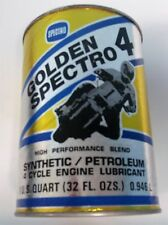 Vintage Golden Spectro 4 Motorcycle Oil Can Promo Bank Rare
