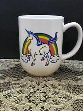 Unicorn Rainbow Mug Coffee Tea Pride White Cup Stoneware Royal Norfolk