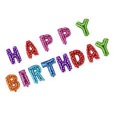GRANDE Multi Happy Birthday Self gonfiare PALLONCINI BANNER BANDIERINE FESTA solo Air