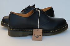 Dr Martens 1461 3-Eye Black Smooth Leather Lace-Up Men's Women's Shoes Brand New