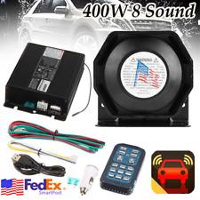 Universal 12V 400W Car Alarm 8 Sound Loud Emergency Warning Siren Horn Speaker