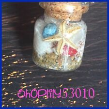Tiny Ocean In A Bottle Necklace -4ML Bottle With Natural Sea Shells And Starfish