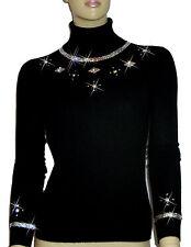 LUXE OH `DOR® 100% Cashmere Women Manhattan Rollkragenpullover black Gr 46/48 L