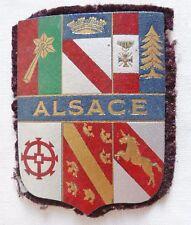Blason WWII ALSACE 1945 60X46 mm écusson Patch insigne carton imprimé FRANCE
