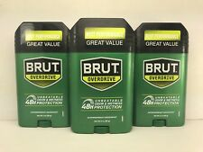 3  Brut Antiperspirant & Deodorant, Solid, Overdrive, 48 Hour Odor Protection