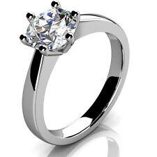18 Carat Round White Gold I1 Fine Diamond Rings