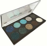 Technic Pressed Glitter Eyeshadow Palette - Mermaid Vegan