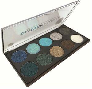Technic Pressed Glitter Eyeshadow Palette - Mermaid Vegan