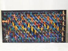 "HUGE ICONIC OUTSIDER ART 1991 JOHN ABBOTT MIXED MEDIA PAINTING 31""x61"""