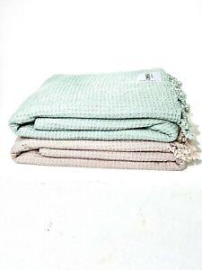 NEW Oversized Waffle Family Beach & Picnic Blanket 210x180 cm Turkish Cotton