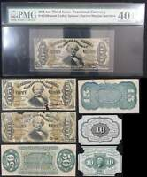 7 Piece U.S. Fractional Currency Specimen Lot 10c 15c & 50c
