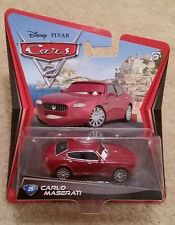 Disney Pixar Cars 2 • #25 Carlo Maserati • 2011 Porto Corsa Angled Cardback