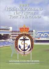 ROYAL NEW ZEALAND NAVY ENGLAND TOUR 1977 RUGBY BOOKLET