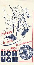Buvard Vintage   Cirage Crème  Lion Noir