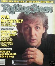 PAUL McCARTNEY  9/11/86 Rolling Stone  SIMPLY RED