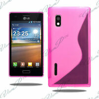 CASE COVER COVERS TPU S SILICONE GEL WALLET FILMS FOR LG OPTIMUS L5 E610