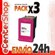 3 Cartuchos Tinta Color HP 301XL Reman HP Deskjet 1050 A 24H
