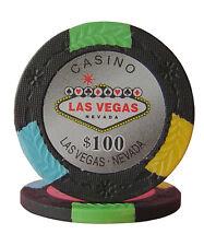 50pcs Four Tone Las Vegas Design Poker Chips $100