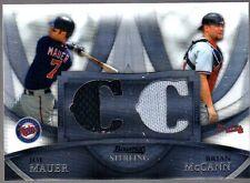 Brian McCann/Joe Mauer 2010 Bowman Sterling Dual Relic Boxloader Refractor Ser #