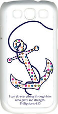 Multicolor Polka Dot Anchor Philippians 4:13 Verse Samsung Galaxy S3 Case Cover