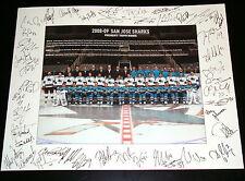San Jose Sharks 2008-09 Team Photo 11x14 Poster Print