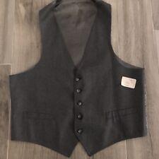Mens Gray Formal Vest Waistcoat Suit Vest Size 46W