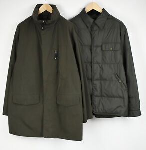 ARMANI JEANS Men D 52 or ~XL 2 in 1 Down Polyester Shell Parka Jacket 29859-G