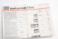 Jobo 1500 System Film Tank Instruction Manual Brochure - Eng De Fr Es - USED B93