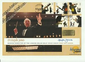 3 OCT 2006 SOUNDS OF BRITAIN FDC HAND SIGNED BY CONDUCTOR Dr HAYDN JAMES SHS