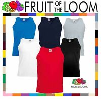 Fruit of the Loom Plain Mens Tank Tops Athletic Vest Gym Training Sports T Shirt