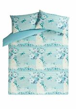 George ASDA Home Blue/green Patchwork DragonFly double Duvet Cover 2 Pillowcases