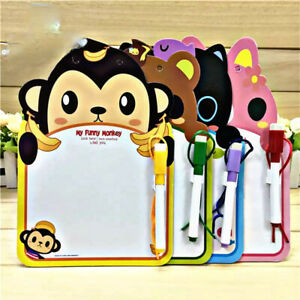 Kids Toddlers Cute Cartoon Animals Drawing Writing Home school white board + Pen