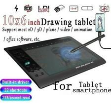 Graphic Tablet Drawing Pad with Digital Pen Quick Reading Pressure Sense Gift