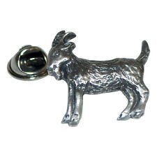Goat Lapel Pin Badge in British Pewter Gifts For Him