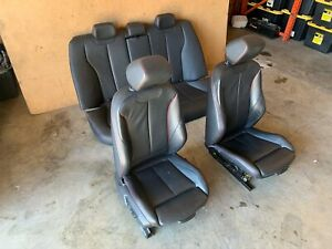 BMW 12-18 F30 SEATS SPORT MTECH HEATED RED STITCHES FRONT AND REAR SET OEM 86MK