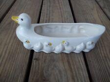 Vintage Duck Ducklings Cracker Dish Porcelain China Crackers Holder 10 inch
