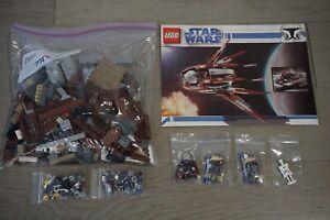 LEGO STAR WARS 7752 COUNT DOOKU 'S SOLAR SAILER COMPLETE W/ MANUAL MAGNA GUARD