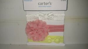 Set of 3 Headwraps for age 0-6 months, NWT