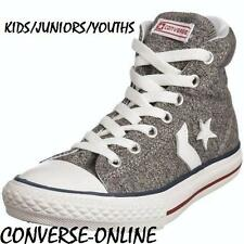 Kids Boy Girl Converse All Star Player Ev Hi Top Grigio Sneakers Boot 33 UK taglia 1