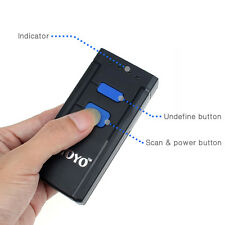 Mini Portable Wireless Bluetooth Barcode QR Scanner Fr Apple iOS Android Windows