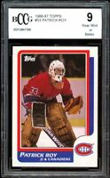 1986-87 Topps #53 Patrick Roy Rookie Card BGS BCCG 9 Near Mint+