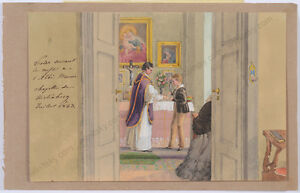 "Princess Henriette Odescalchi (1800-1852) ""Son Victor assisting a priest"""
