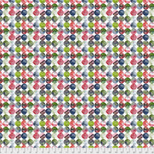 Georgia Blue Full Moon Dots Free Spirit Cotton Quilt Fabric PWNM011 Ruby Red