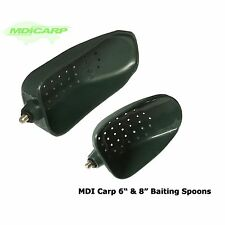 "MDI Carp Green Baiting Spoons 6"" & 8"" with Locking Nuts"