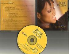 REBBIE JACKSON Yours Faithfully w/ RARE C&J & MIX PROMO DJ CD single Michael